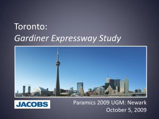 Toronto:  Gardiner Expressway Study