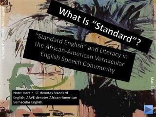 "What Is ""Standard""?"