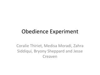 Obedience Experiment