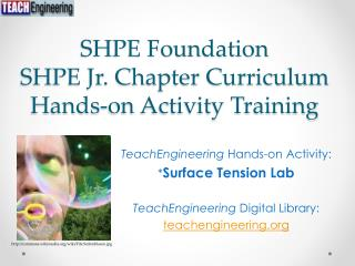 SHPE Foundation SHPE Jr. Chapter Curriculum Hands-on Activity Training