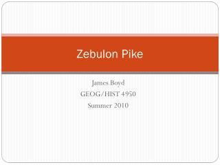 Zebulon Pike