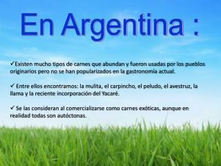 En Argentina :