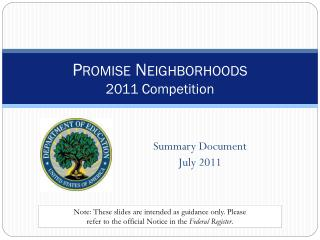 Promise Neighborhoods  2011 Competition