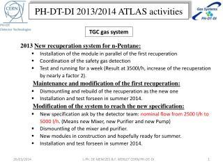 PH-DT-DI 2013/2014 ATLAS activities
