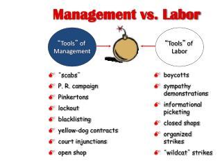 Management vs. Labor