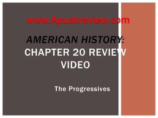 American History:  Chapter 20 Review Video