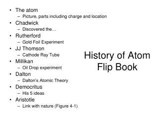 History of Atom Flip Book
