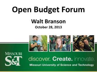 Open Budget Forum
