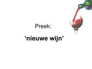 Preek: