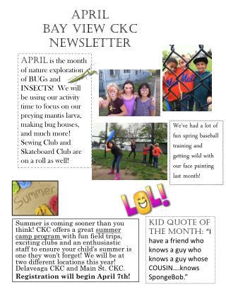 April  Bay View CKC Newsletter