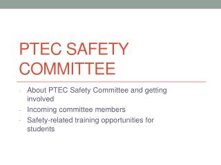 PTEC Safety Committee