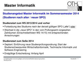 Master Informatik