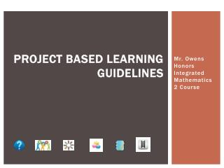 Project Based Learning Guidelines