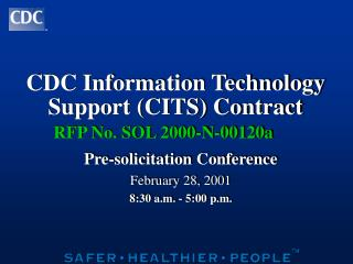 CDC Information Technology Support CITS Contract