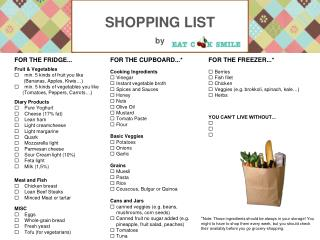SHOPPING LIST by