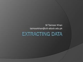 Extracting data