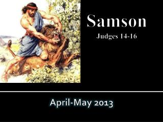 Samson Judges 14-16