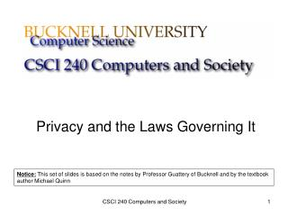 Privacy and the Laws Governing It