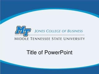 Title of PowerPoint