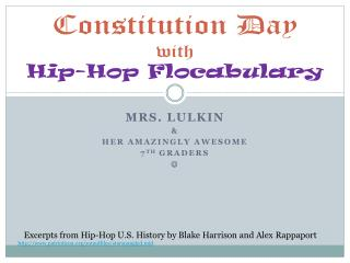 Constitution Day  with Hip-Hop  Flocabulary