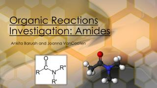 Organic Reactions Investigation: Amides