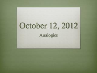 October 12, 2012