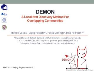 DEMON A Local-first  Discovery  Method For  Overlapping Communities