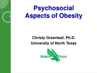 Psychosocial  Aspects of Obesity