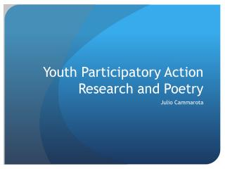 Youth Participatory Action Research and Poetry
