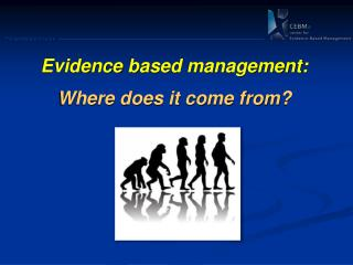 Evidence  based management: Where does it come from?