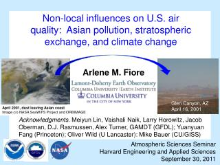 Atmospheric Sciences Seminar  Harvard Engineering and Applied Sciences September 30, 2011