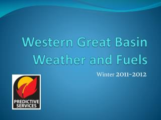 Western Great Basin Weather and Fuels