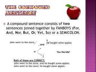 The Compound  Sentence