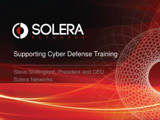 Supporting Cyber Defense Training