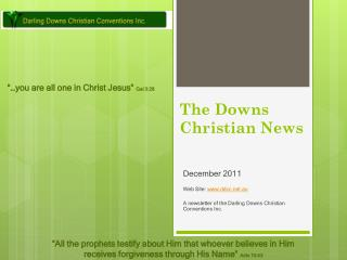 The Downs Christian News