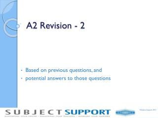 A2 Revision - 2