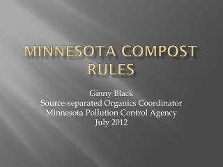 Minnesota Compost Rules
