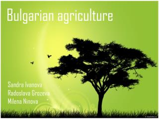 Bulgarian agriculture