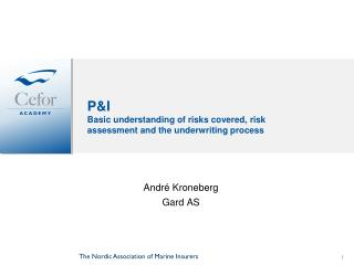 P&I Basic understanding of risks covered, risk assessment and the underwriting process