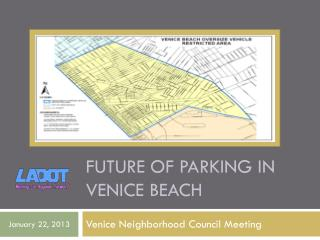 Future of parking in  venice  beach