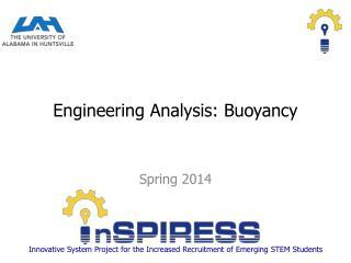 Engineering Analysis: Buoyancy