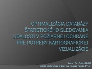 Autor: Bc. Patrik  Babiš Vedúci diplomovej práce: Ing. Tomáš  Peňáz ,  Ph.D .