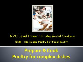 NVQ Level Three in Professional Cookery