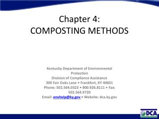 Chapter 4:  COMPOSTING METHODS