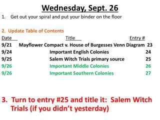 Wednesday, Sept. 26