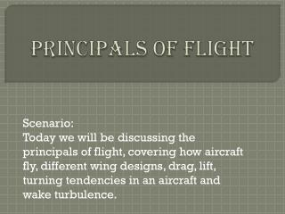 Principals  O f Flight