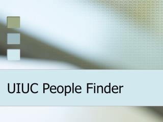UIUC People Finder