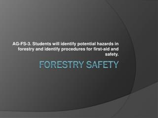 Forestry Safety