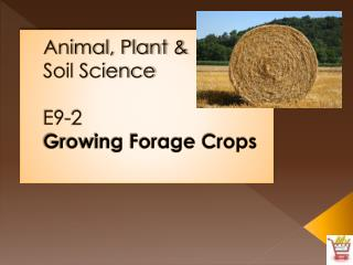 Animal, Plant &  Soil Science E9-2 Growing Forage Crops