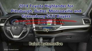 ppt 41972 2014 Toyota Highlander for Pittsburgh Butler Monroeville and Greensburg SUV Buyers